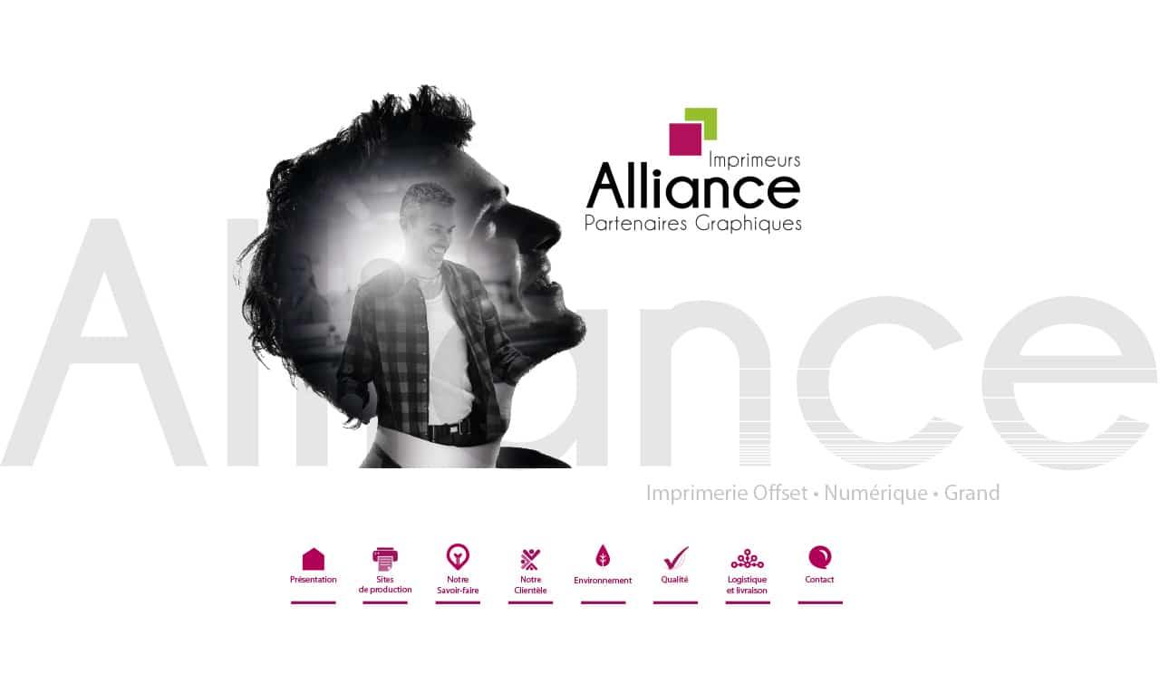 Site vitrine - Alliance Partenaires Graphiques, imprimeurs