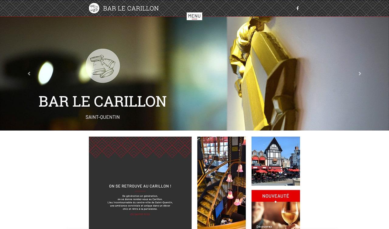 Site vitrine - Bar le Carillon Saint-Quentin