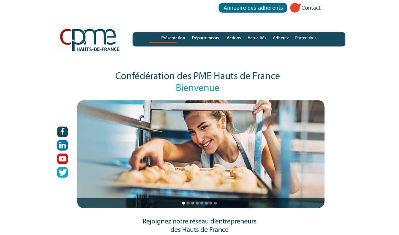 Site vitrine - CPME Hauts de France