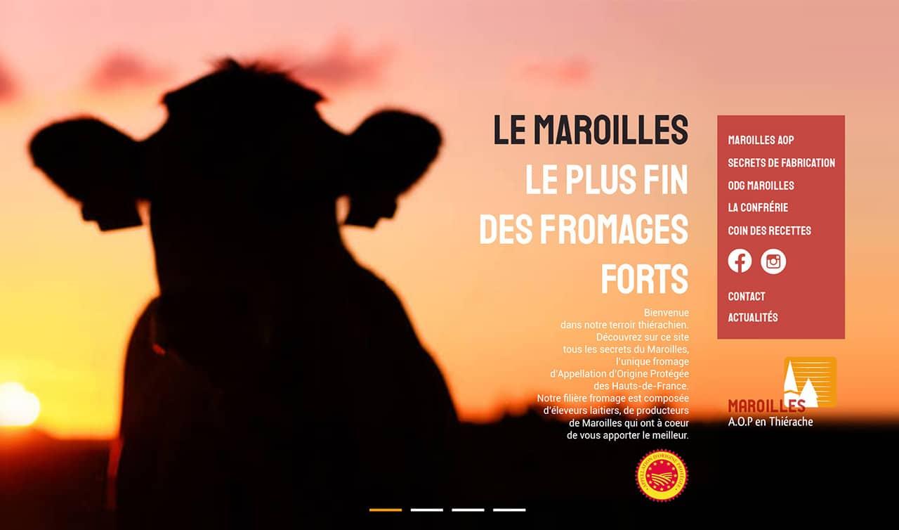 Site vitrine - Maroilles AOP