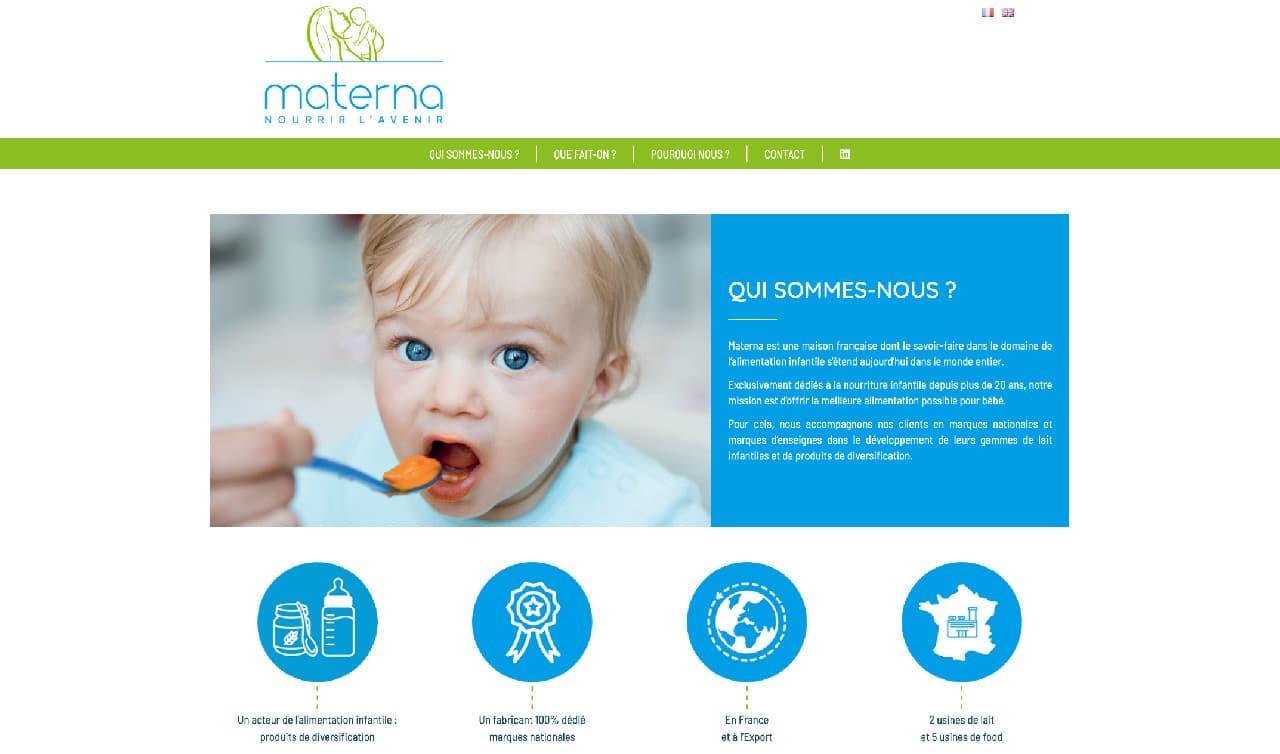 Site vitrine - Materna France, nourrir l'avenir