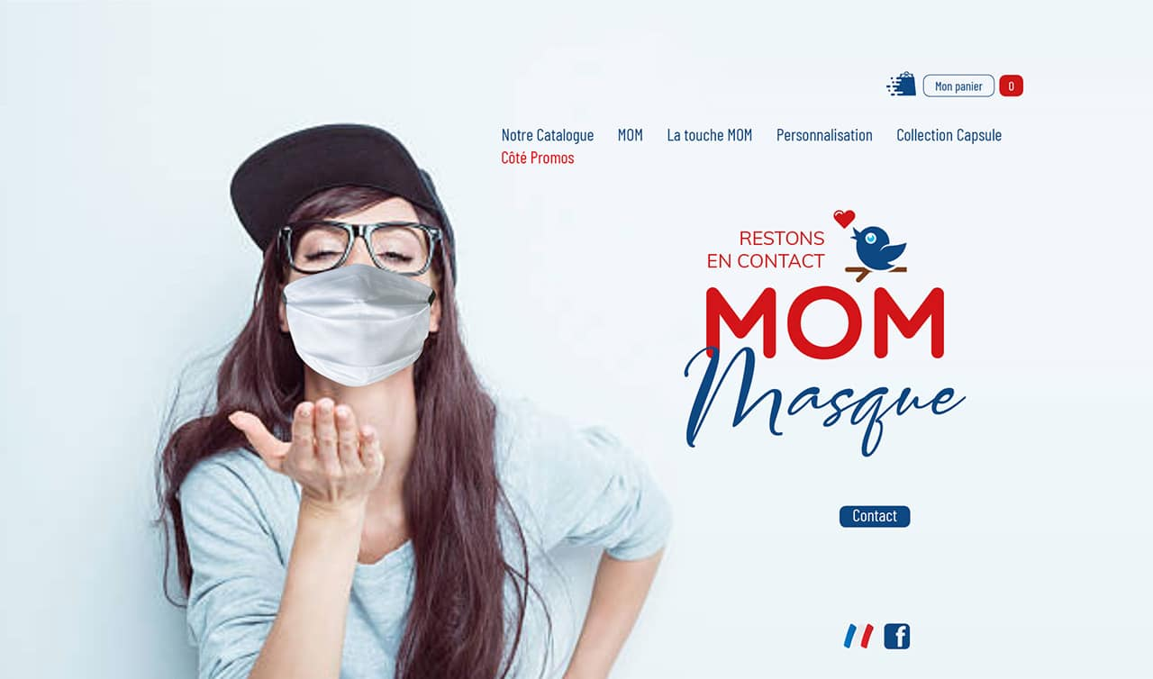 Site marchand - MOM Masque