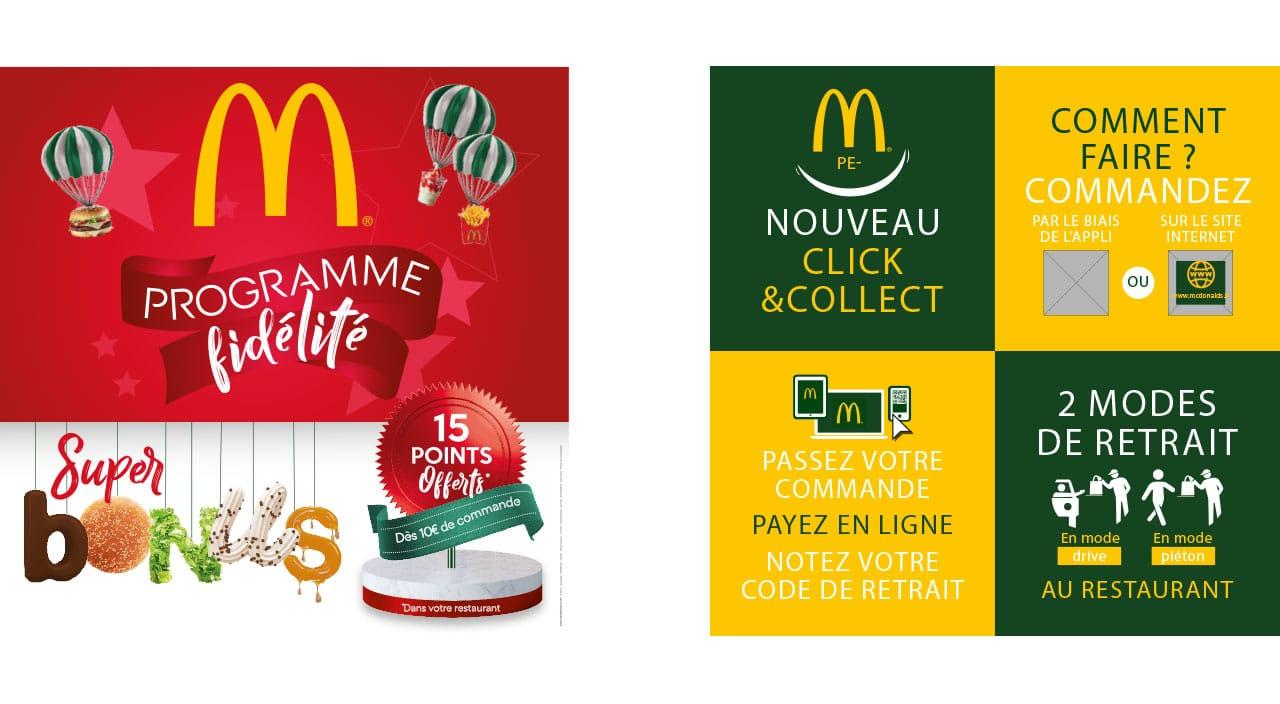 Posts Facebook - Programme fidélité McDonald Click & Collect